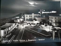 Ladispoli - Roma Piazza Cantone Notturno Usata 1960 - Fiumicino
