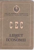 Romania , Roumanie , 1960 , Carnet CEC , Banking Cec Book - Cheques & Traveler's Cheques