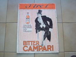ITALIA RIVISTA I TRE I CON PUBBLICITà DELLA CAMPARI  DAVIDE MILANO CM. 35 X 27,5 - Arte, Design, Decorazione