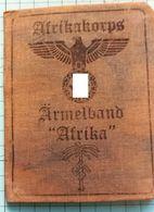 """WW2 German, Nazi, Arfikakorps Armelband """"Afrika""""  ID, Document Ausweis, Not Original (?) - 1939-45"""