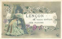 Belle  Femme      ,  D 'Alençon Je Vous Envoie Ces Fleurs       S736   Photo P Boyer - Femmes