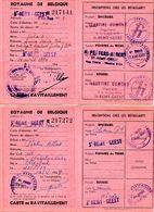 2 Cartes De Ravitaillement  1943,1944 épiceries,pommes De Terre,beurre,Saint Remy-Geest Rue D'en Bas Jodoigne PRIX FIXE - Cartes