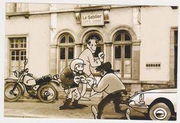 26428 Rennes Rue Jean Guehenno Fougeres -bar Bistrot Sablier  DS Moto Dessin - Rennes