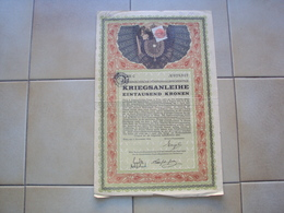 ITALIA AUSTRIA AUSTRIE Österreich AZIONE OBBLIGAZIONE ITALIANIZZATA CON MARCA SPECIALE WIEN 1914 - Non Classificati