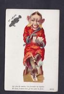 Belle Carte Premier Avril Ajoutis Chromo Singe Jeu De Cartes Farceur Escamoteur Tour Magie Anthropomorphisme - 1er Avril - Poisson D'avril
