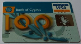 CYPRUS - Oberthur - Bank Of Cyprus - Credit Card Specimen - VISA - 12/98 - Credit Cards (Exp. Date Min. 10 Years)