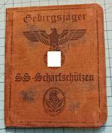 WW2 German Gebirgsjager- SS Scharfschtzen  ID, Document Auswies, Not Original (?) - 1939-45