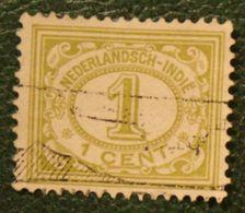 1 Ct Cijfer NVPH 100 1912-1930 Gestempeld / Used INDIE / DUTCH INDIES - Indes Néerlandaises