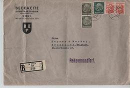 Deutsches Reich Österreich Rekommandiert Beckacite Wien 1939 N.Belgien 1707 - Allemagne