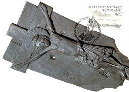 GROENLAND CARTE MAXIMUM  NUM.Yvert 319 LE VIKINGS - Cartes-Maximum (CM)