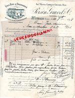 30- AUBAIS- RARE LETTRE MANUSCRITE SIGNEE PERSIN GRUVEL- CHARLES GRUVEL FILS-VINS FINS-1898 - France