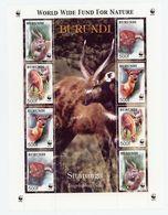 BURUNDI 2004-SERIE (cob) B143***WWF SITATUNGA-La Feuille De 2 Séries Et Vignette Illustrée - Burundi