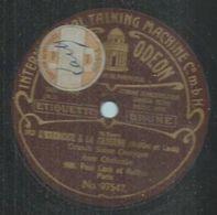 """78 Tours - PAUL LACK Et GUITTON - ODEON 97547 """" L'EXERCICE A LA CASERNE """" + """" UNE JOURNEE A LA CASERNE """" - 78 Rpm - Gramophone Records"""