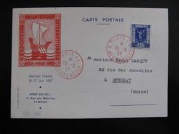 S/L 177 - TB C.P. De L'Expo. Pexip, Affranchie Avec N° 24 ;  De Paris  Pour Epernay ( 15/06/1937) - Marcophilie (Lettres)