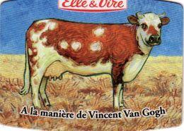 MAGNETS    ELLE&VIRE  VACHE A LA MANIERE DE VINCENT VAN GOGH - Advertising
