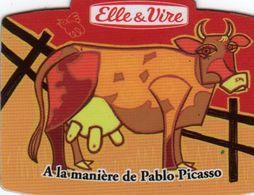 MAGNETS    ELLE&VIRE  VACHE A LA MANIERE DE PABLO PICASSO - Advertising