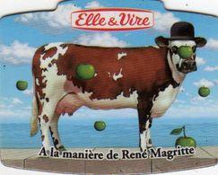 MAGNETS    ELLE&VIRE  VACHE A LA MANIERE DE RENE MAGRITTE - Advertising
