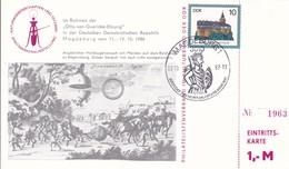 DDR Magdeburg  Im Rahmen Der Otto Von Guericke Ehrung. Briefmarkenausstellung. Karte Mit EintrittskarteMi: 2910 - [6] République Démocratique