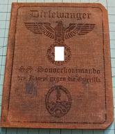 WW2 SS Sonderkommando Den Kampf Gegen Die Guerilla  ID, Document Ausweis, Not Original (?) - 1939-45