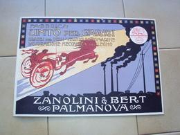ITALIA CARTONCINO PUBBLICITARIO CM. 35x24 UNTO PER CARRI ZANOLINI BERT DI MONFALCONE GORIZIA - Publicidad