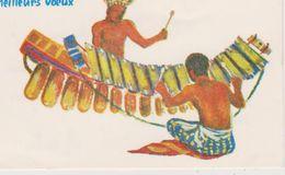 AFRIQUE,AFRICA,COTE D'IVOIRE  En 1964,ABIDJAN,carte De Meilleurs Voeux,bonne Année,artiste,musicien,so Rcier,instrument - Côte-d'Ivoire