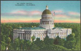 State Capitol, Sacramento, California, C.1940s - Spangler News Agency Postcard - Other