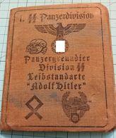 "WW2 German 1. SS Panzergrenadier Division SS Leibstandarte ""Adolf Hitler  ID, Document Auswies, Not Original (?) - 1939-45"