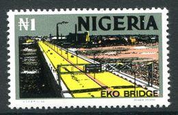 Nigeria 1973-74 Pictorials - Photo Print - 1n Eko Bridge MNH (SG 289) - Nigeria (1961-...)