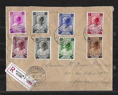 1937 BRUXELLES - MONTREUX SUISSE → Lettre Recommandée   ►1er Jour D'émission◄ - ....-1951