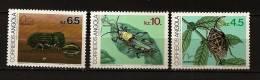 Angola 1983 N° 671 / 3 ** Brasiliana 83, Insectes, Antestiopsis Lineaticollis, Stephanoderes Hampei, Zonocerus - Angola