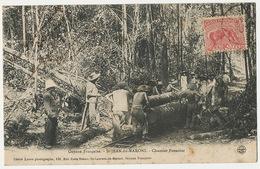 Guyane Française St Jean Du Maroni Chantier Forestier Bagne Bagnards Convicts Train Bois Voyagé - Presidio & Presidiarios
