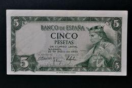 España . Spain . 5 Pesetas 1954 - 5 Pesetas