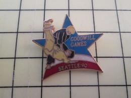 Pin1015c Pin's Pins / Rare Et De Belle Qualité  : SPORTS/ JUDO SEATTLE 90 GOODWILL GAMES Les J.O. Des Jaloux - Judo