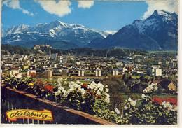 SALZBURG MIT HOHEM GÖLL NATUR TELEAUFNAHME  PANORAMA RIESEN KARTE - Salzburg Stadt
