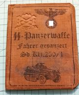 WW2 German SS Panzerwaffe Fahrer Gepanzert Sd Kfz.250/1  ID, Document Ausweis, Not Original (?) - 1939-45