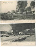 Anvers Hoboken Incendie American Petroleum Petrole Hollando Belge  4 Cartes Edit Bastyns Hermans - Antwerpen