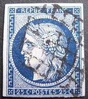 Lot FD/1187 - CERES N°4a Bleu Foncé - GRILLE NOIRE - Cote : 75,00 € - 1849-1850 Ceres