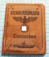 WW2 German  Kriegsmarine Unterseeboot ID, Document Auswies, Not Original - 1939-45