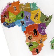 MAGNETS    BROSSARD  CARTE DE L'AFRIQUE  19 MAGNETS - Animals & Fauna