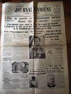 Journal Le Progres De La Somme Declaration De Guerre Lundi 4 Aout 1939 - Journaux - Quotidiens