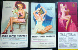PIN CALENDRIERS UP AMERICAINES ESOTERISME STARLETTES NUS BELLES DESHABILLEES 1948/1955 SEPT GRAVURES SEXI - Illustrateurs & Photographes