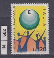 ITALIA REPUBBLICA, 1978Giornata Del Francobollo Mondo Nuovo - 1971-80:  Nuovi