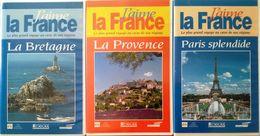 3 K7 VHS Bretagne Provence Et Paris - Documentary