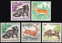 Laos 1971 Stamps Sc # #219-22 C83 Wildlife Animals MNH - Rhinozerosse
