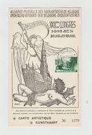 Carte Artistique / Kunstkaart N°1279 / Alliance Mutuelle Des Sous Officiers De Belgique - Cachet BRUSSEL - Belgium