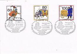 27807. Carta MAINZ (Alemania Federal)  1989. Shet Post, Hans Wagner Medaille - [7] República Federal