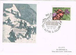 27808. Tarjeta MILANO  1972, Gli ALPINI A Milano. Travesia Alpes, Montañismo - 6. 1946-.. Repubblica