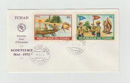 FDC 1972 - TCHAD - Scoutisme Mi 1972 - Brieven En Documenten