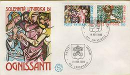 144113 BUSTA FDC FIRST DAY PRIMO GIORNO VATICANO SOLENNITA' LITURGICA DI OGNISSANTI - FDC