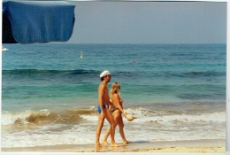 Foto/Photo. Snapshot. Couple En Maillot, Seins Nus. - Pin-Ups